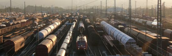 Picture of a freight train terminal